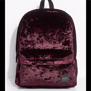 Vans Burgundy suede backpack
